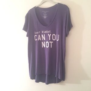 Graphic Tee Dear Winter can you not XL